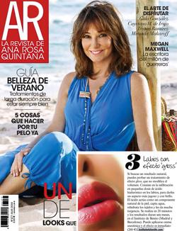 Labios efecto gloss. Tratamiento de medicina estética anunciado en la revista de Ana Rosa Quintana.