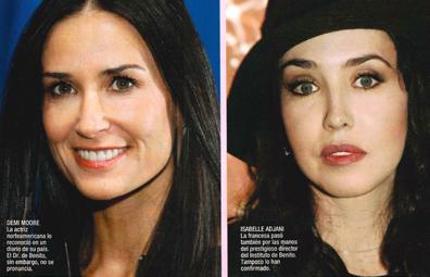 Demi moore y Isabelle Adjani